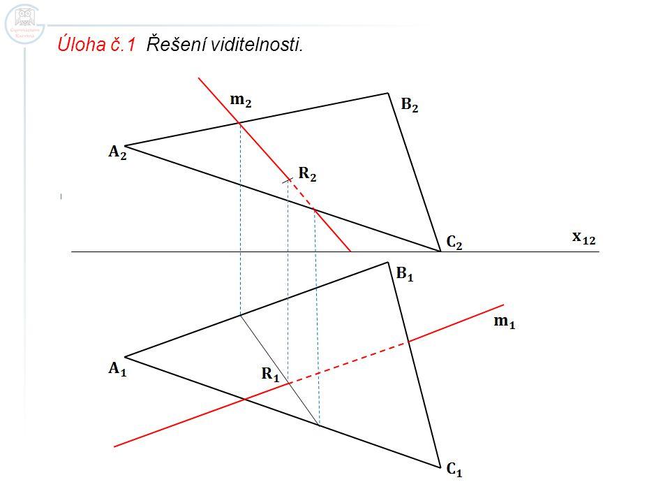Úloha č.1 Řešení viditelnosti.
