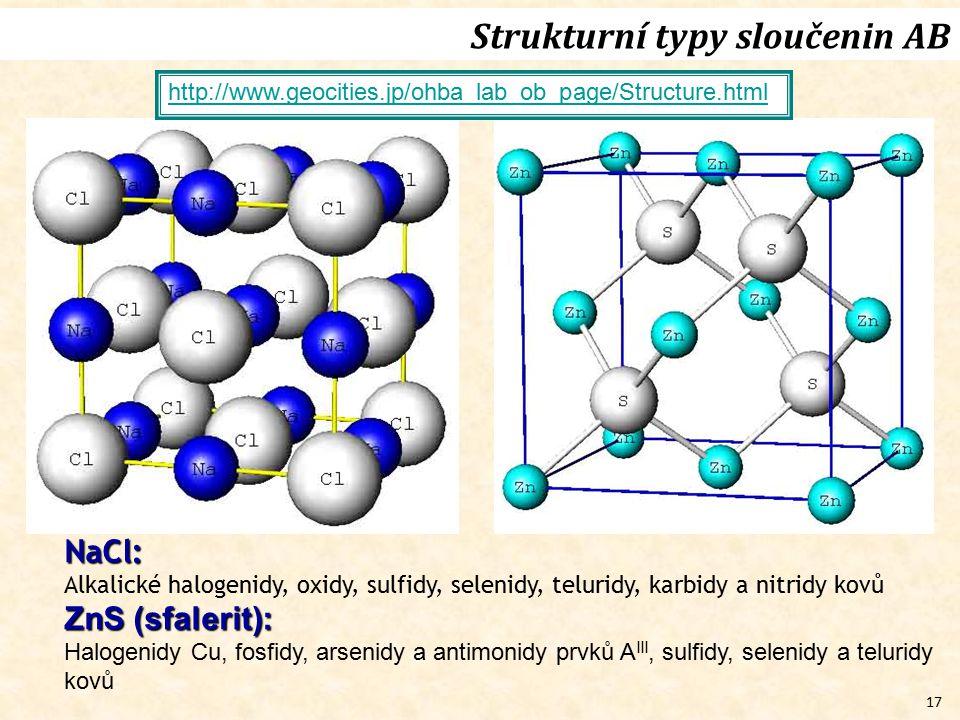 Strukturní typy sloučenin AB