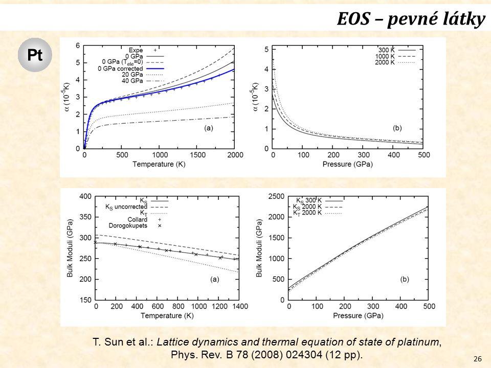 EOS – pevné látky Pt. T.
