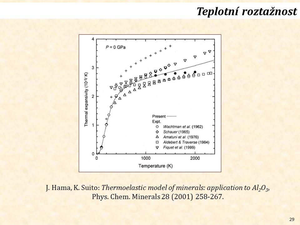 Teplotní roztažnost J. Hama, K.