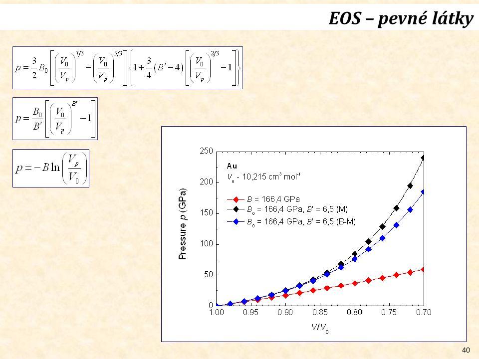 EOS – pevné látky