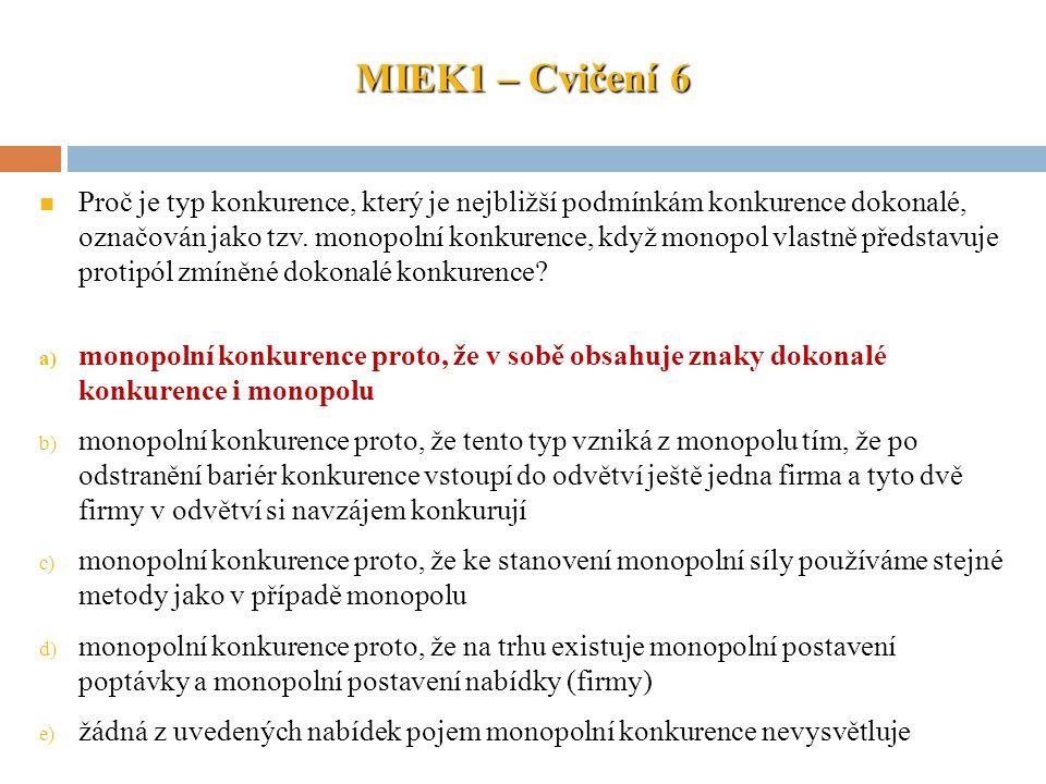 MIEK1 – Cvičení 6