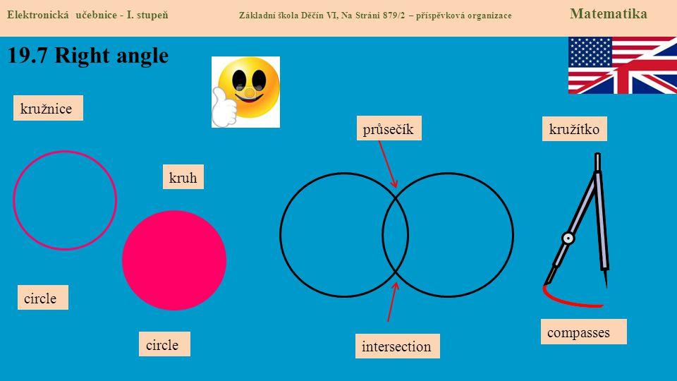19.7 Right angle kružnice průsečík kružítko kruh circle compasses