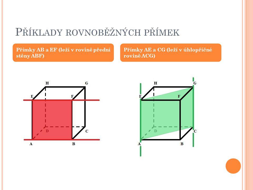 Příklady rovnoběžných přímek