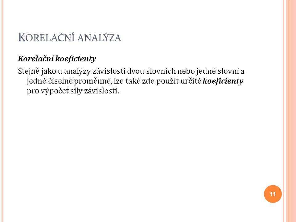 Korelační analýza