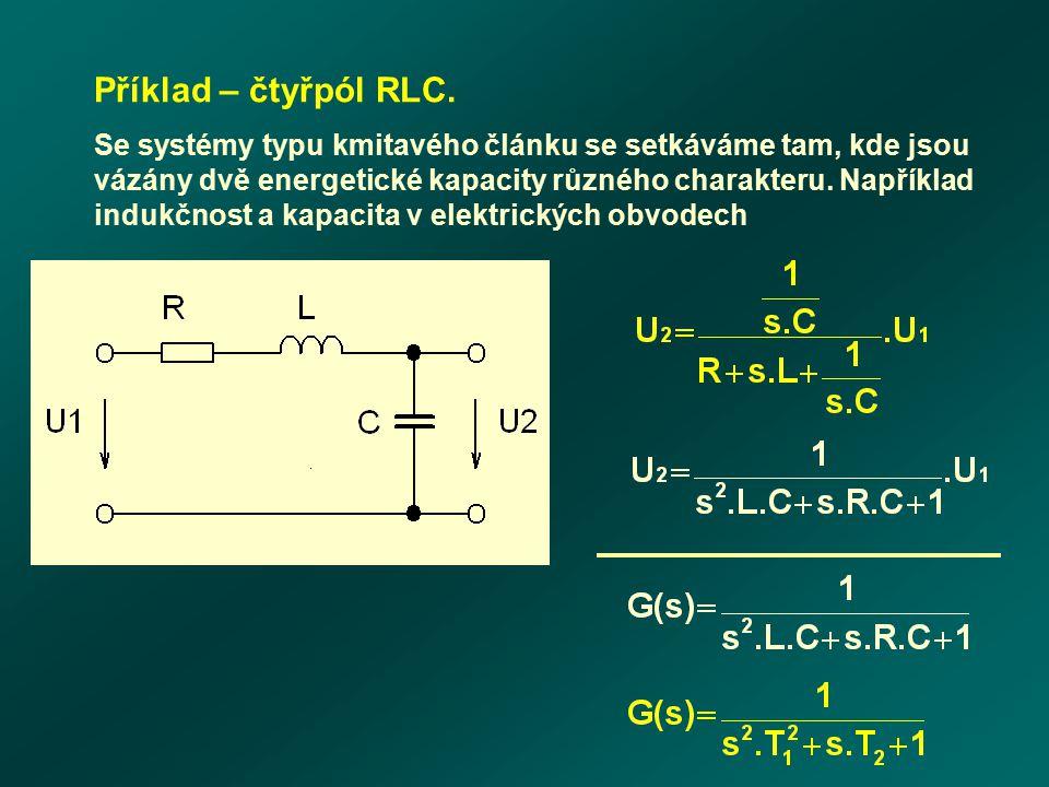 Příklad – čtyřpól RLC.