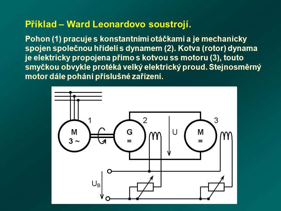 Příklad – Ward Leonardovo soustrojí.