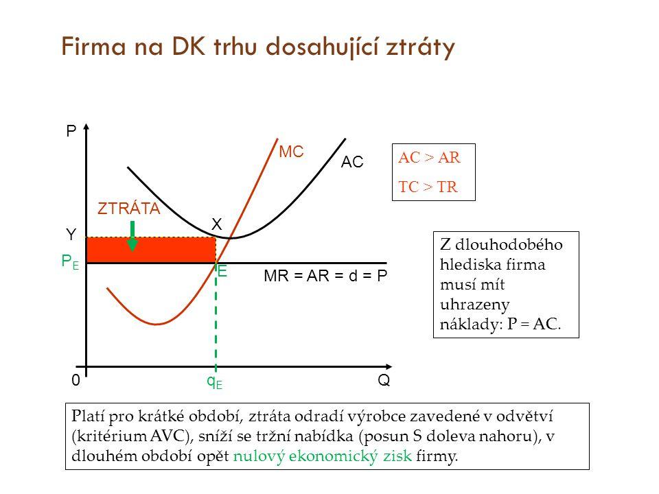 Firma na DK trhu dosahující ztráty