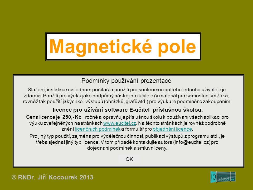 Magnetické pole Podmínky používání prezentace