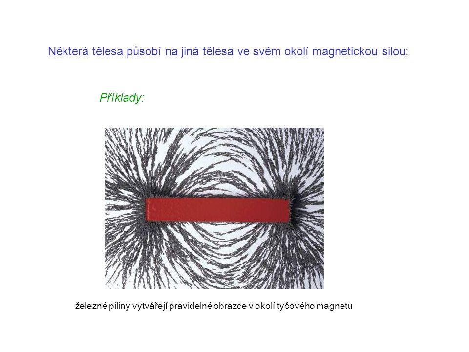 Některá tělesa působí na jiná tělesa ve svém okolí magnetickou silou: