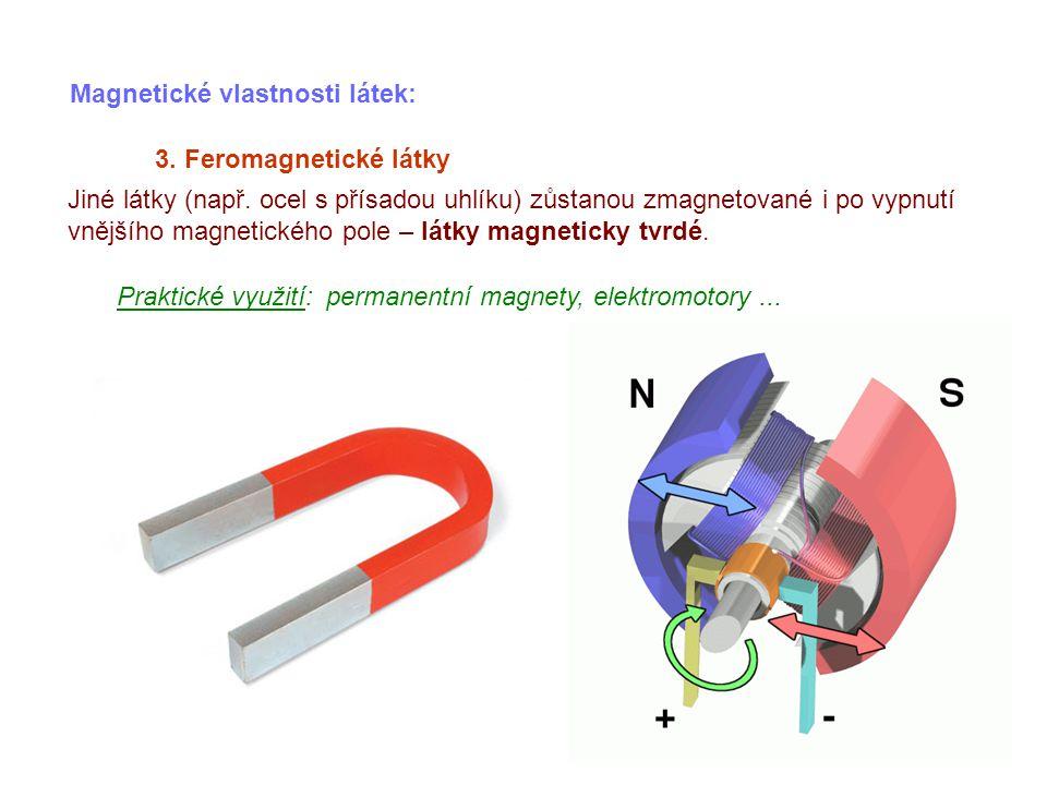 Magnetické vlastnosti látek: