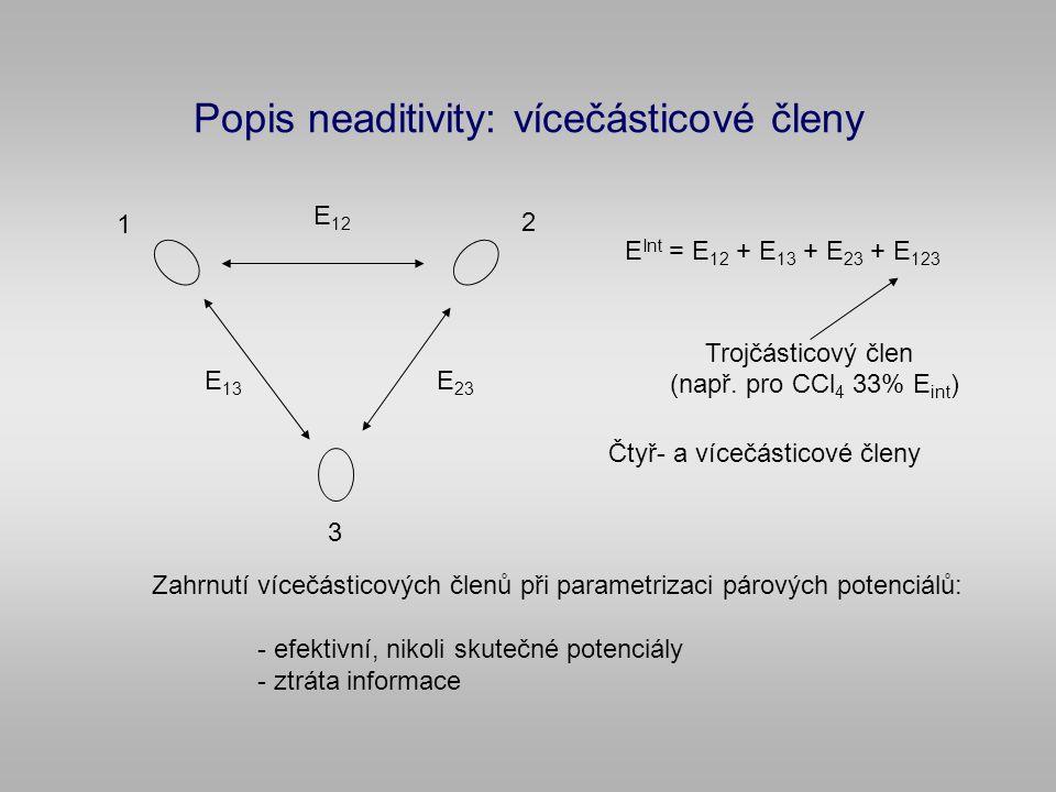 Popis neaditivity: vícečásticové členy