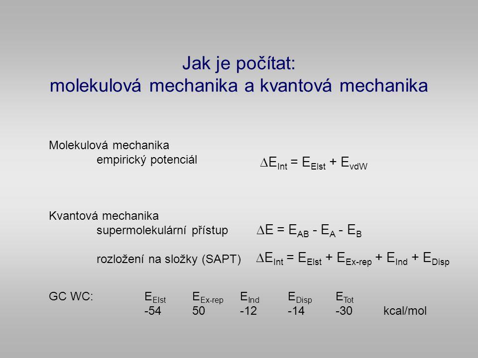 Jak je počítat: molekulová mechanika a kvantová mechanika