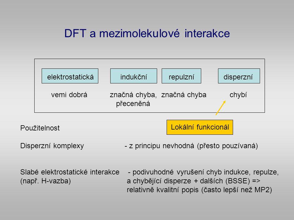 DFT a mezimolekulové interakce