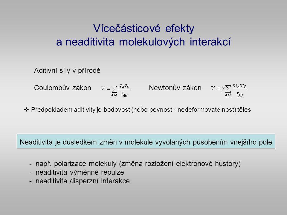 Vícečásticové efekty a neaditivita molekulových interakcí