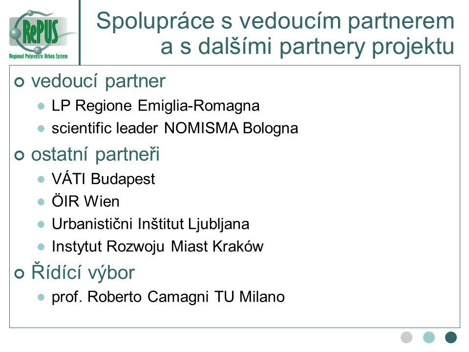 Spolupráce s vedoucím partnerem a s dalšími partnery projektu
