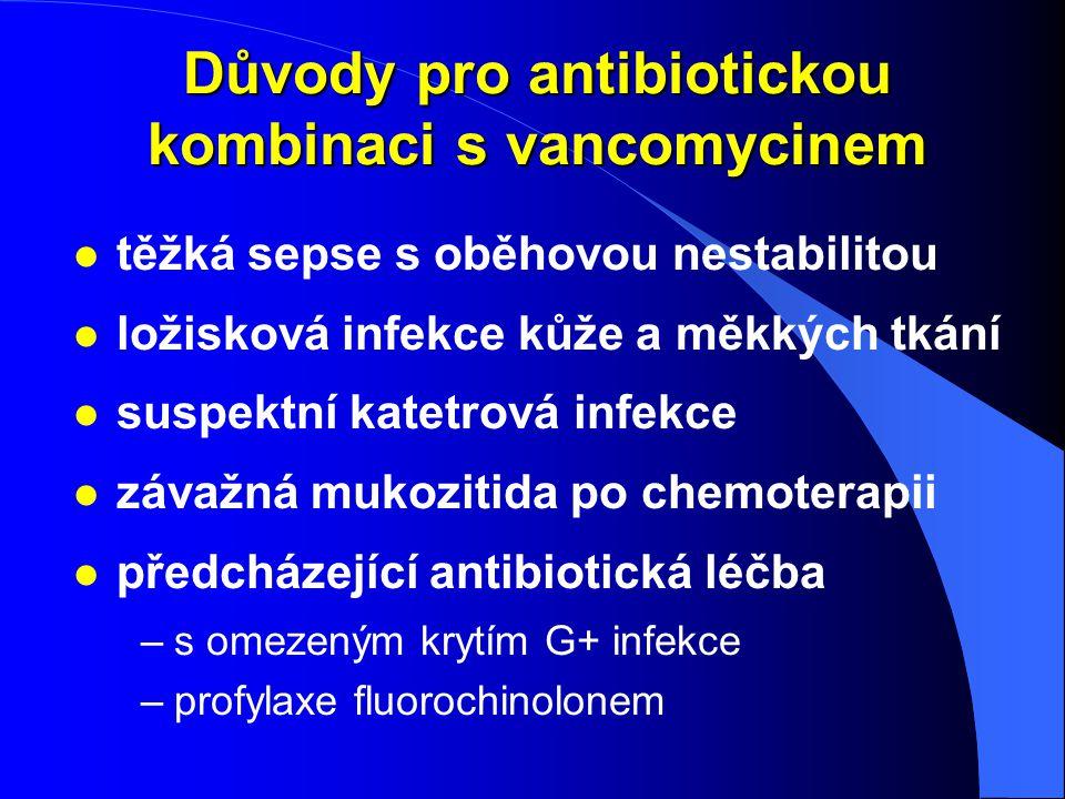 Důvody pro antibiotickou kombinaci s vancomycinem