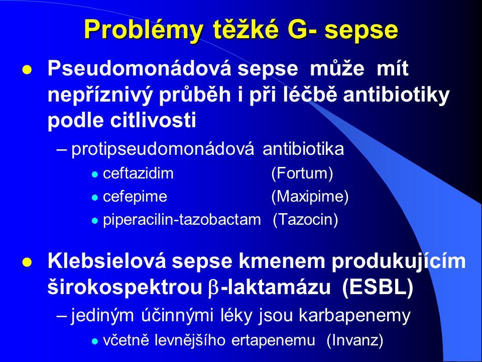 Problémy těžké G- sepse