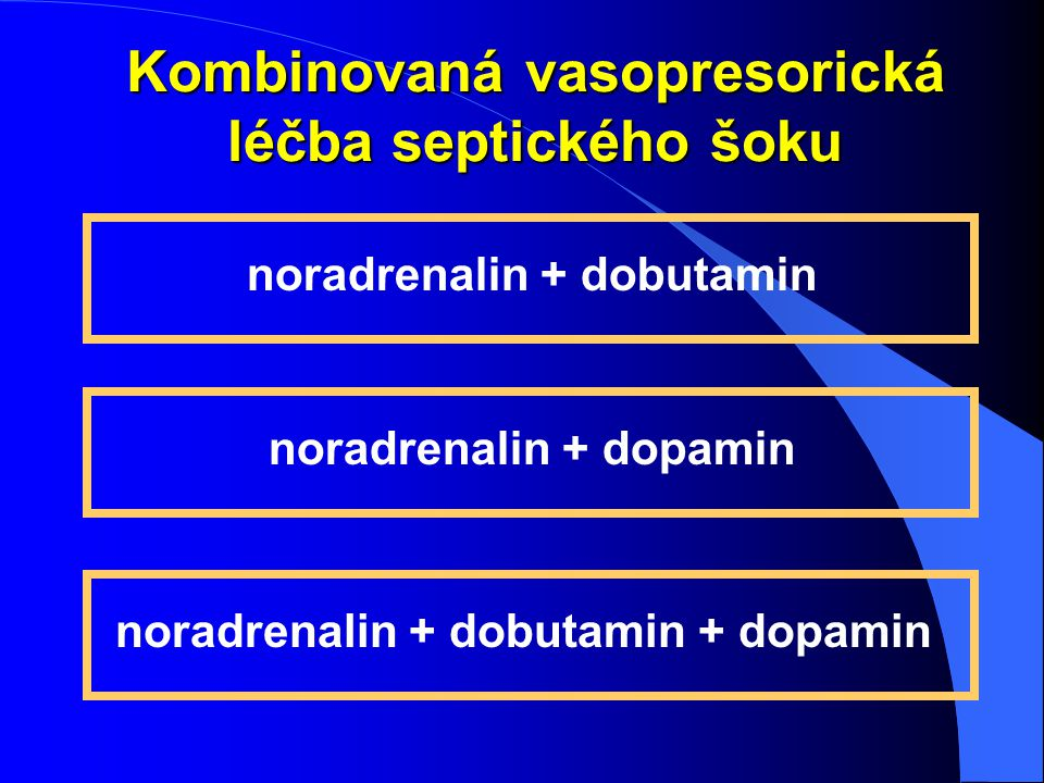 Kombinovaná vasopresorická léčba septického šoku