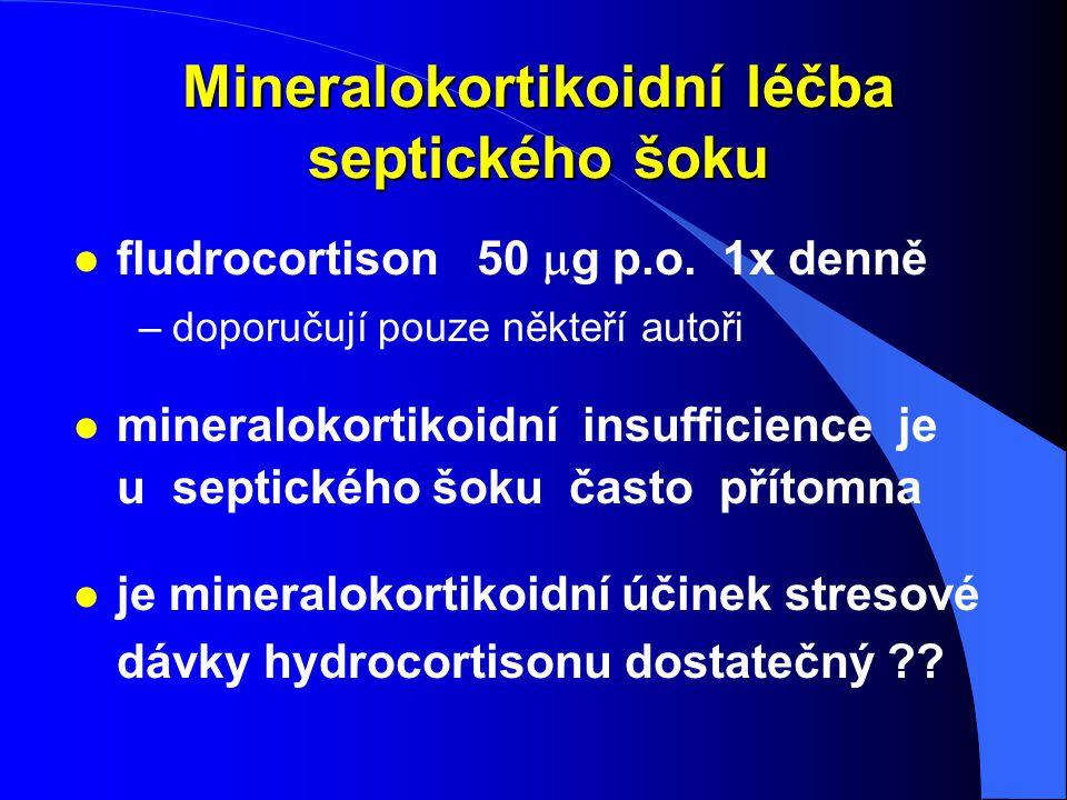 Mineralokortikoidní léčba septického šoku