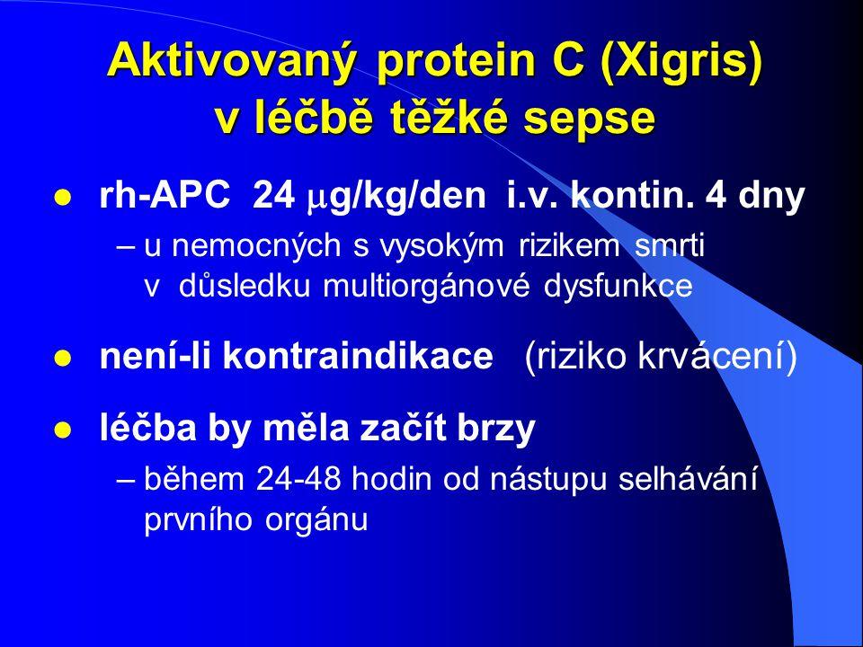 Aktivovaný protein C (Xigris) v léčbě těžké sepse