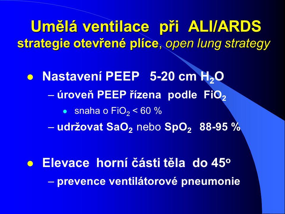 Umělá ventilace při ALI/ARDS strategie otevřené plíce, open lung strategy