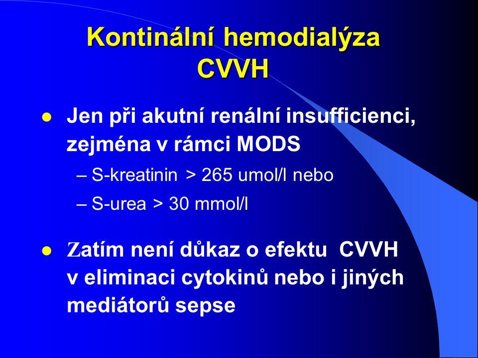 Kontinální hemodialýza CVVH