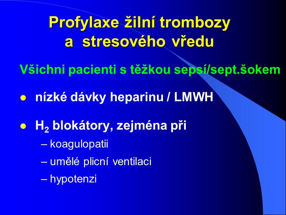 Profylaxe žilní trombozy a stresového vředu