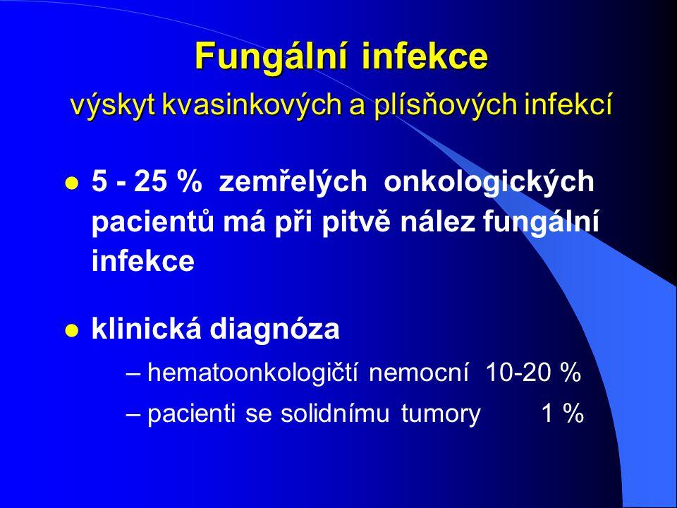 Fungální infekce výskyt kvasinkových a plísňových infekcí