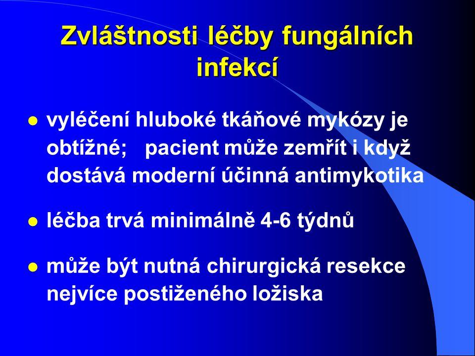 Zvláštnosti léčby fungálních infekcí