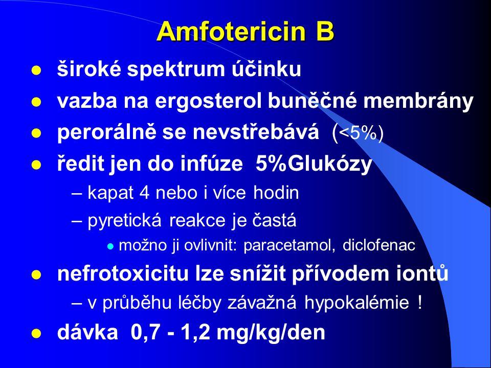 Amfotericin B široké spektrum účinku