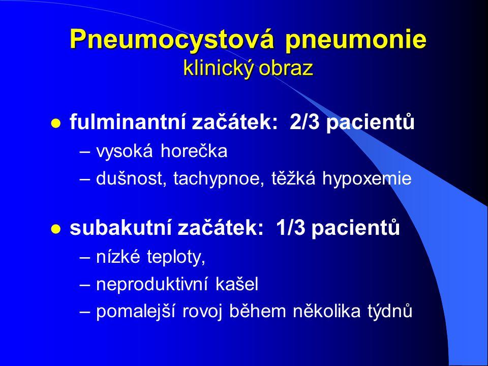 Pneumocystová pneumonie klinický obraz