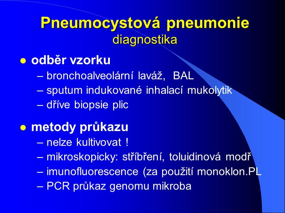 Pneumocystová pneumonie diagnostika