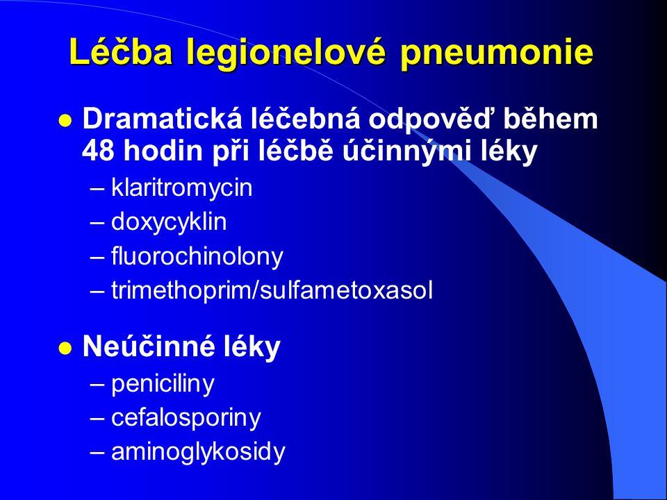 Léčba legionelové pneumonie