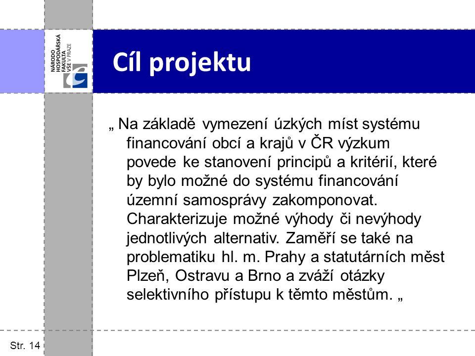 Str. 14 Cíl projektu.