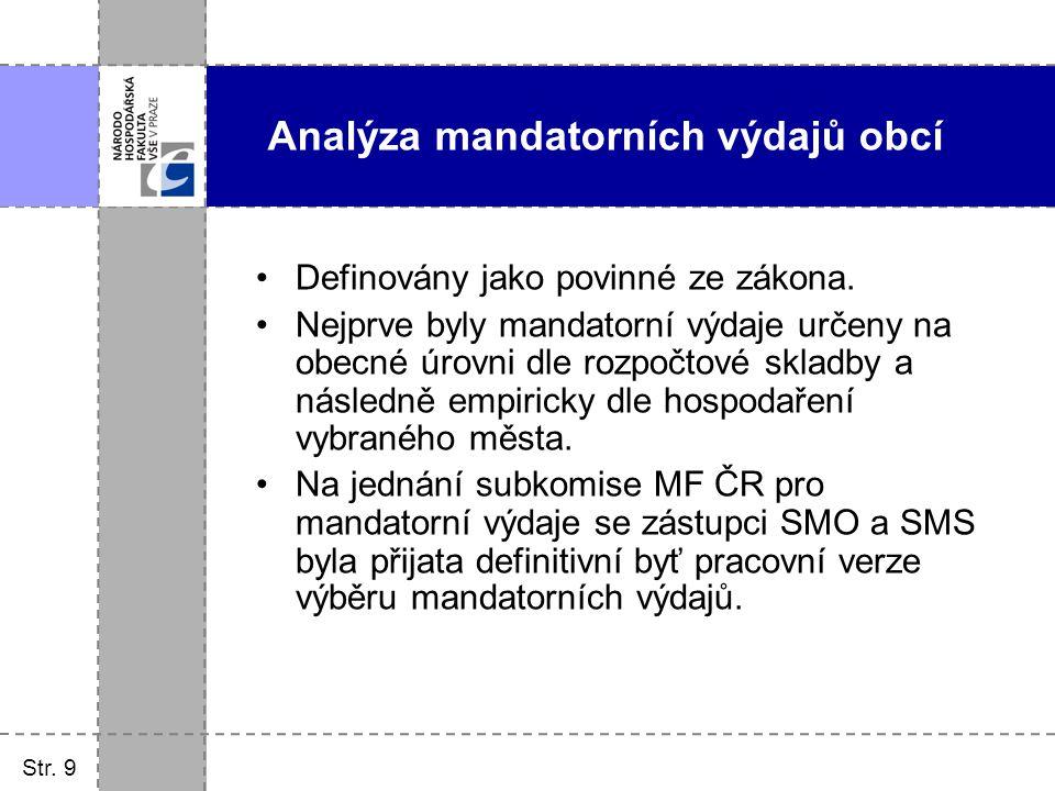 Analýza mandatorních výdajů obcí
