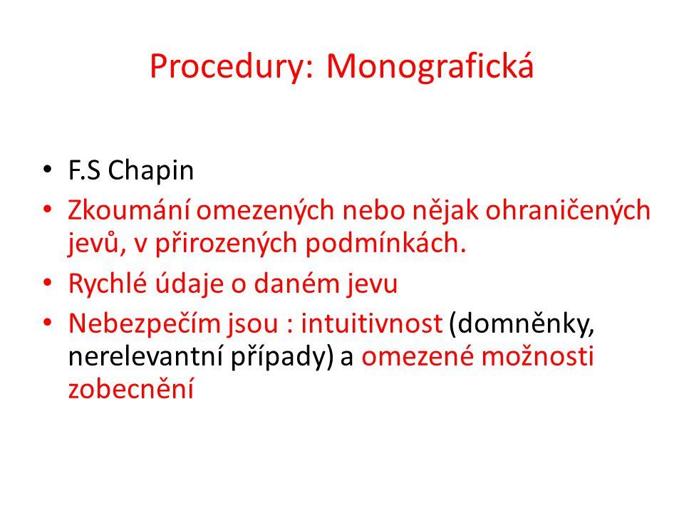 Procedury: Monografická