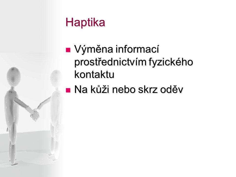 Haptika Výměna informací prostřednictvím fyzického kontaktu