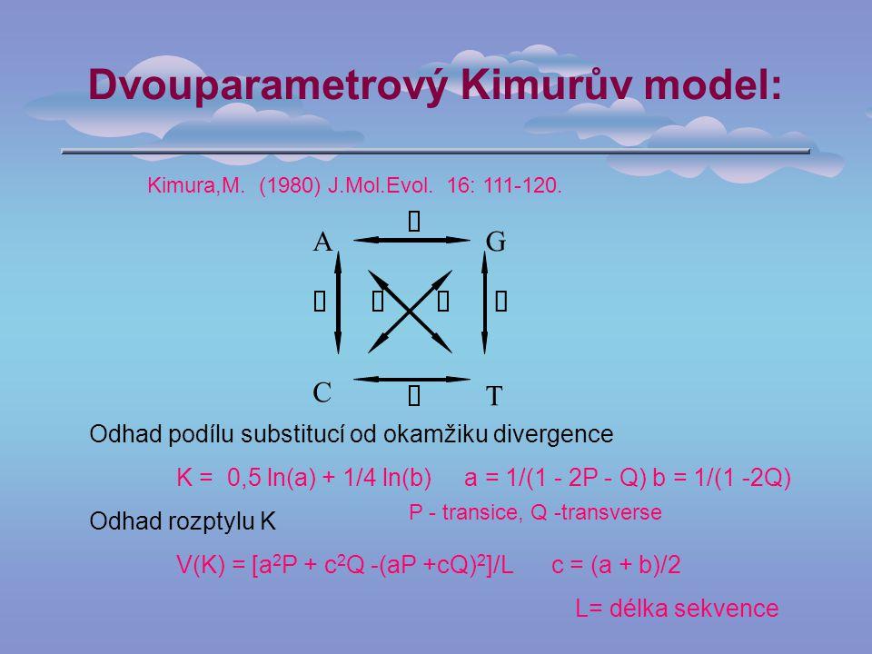 Dvouparametrový Kimurův model: