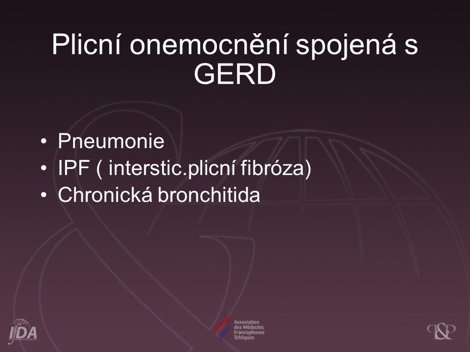 Plicní onemocnění spojená s GERD