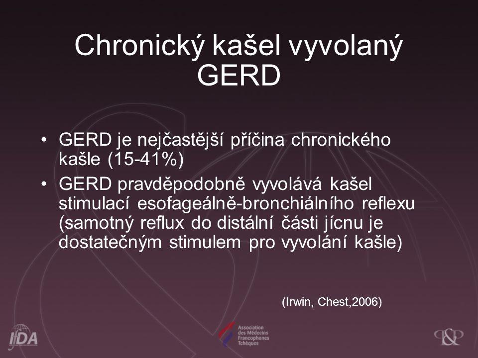 Chronický kašel vyvolaný GERD