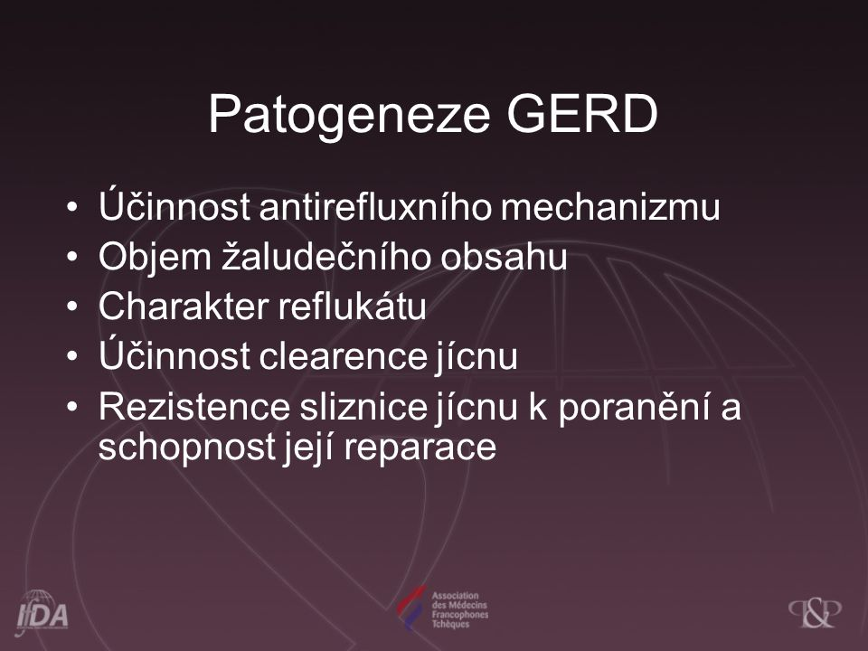 Patogeneze GERD Účinnost antirefluxního mechanizmu