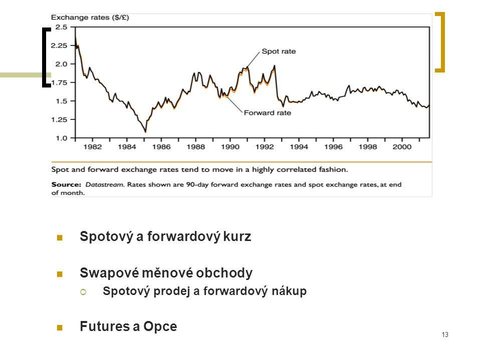 Spotový a forwardový kurz Swapové měnové obchody