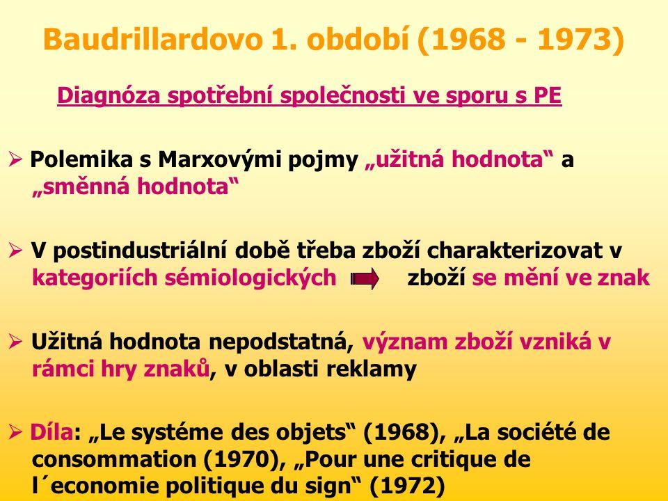 Baudrillardovo 1. období (1968 - 1973)