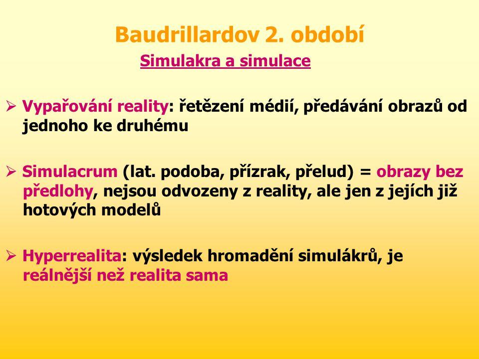 Baudrillardov 2. období Simulakra a simulace