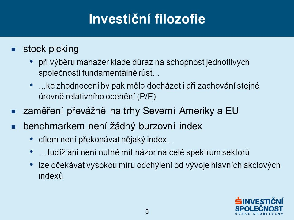 Investiční filozofie stock picking