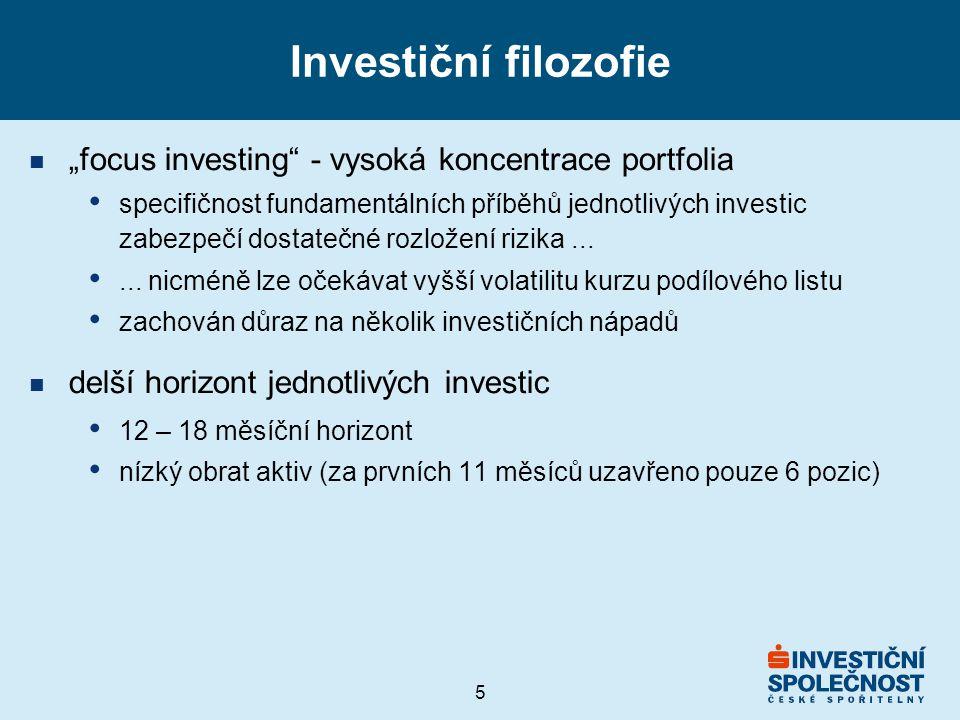 """Investiční filozofie """"focus investing - vysoká koncentrace portfolia"""