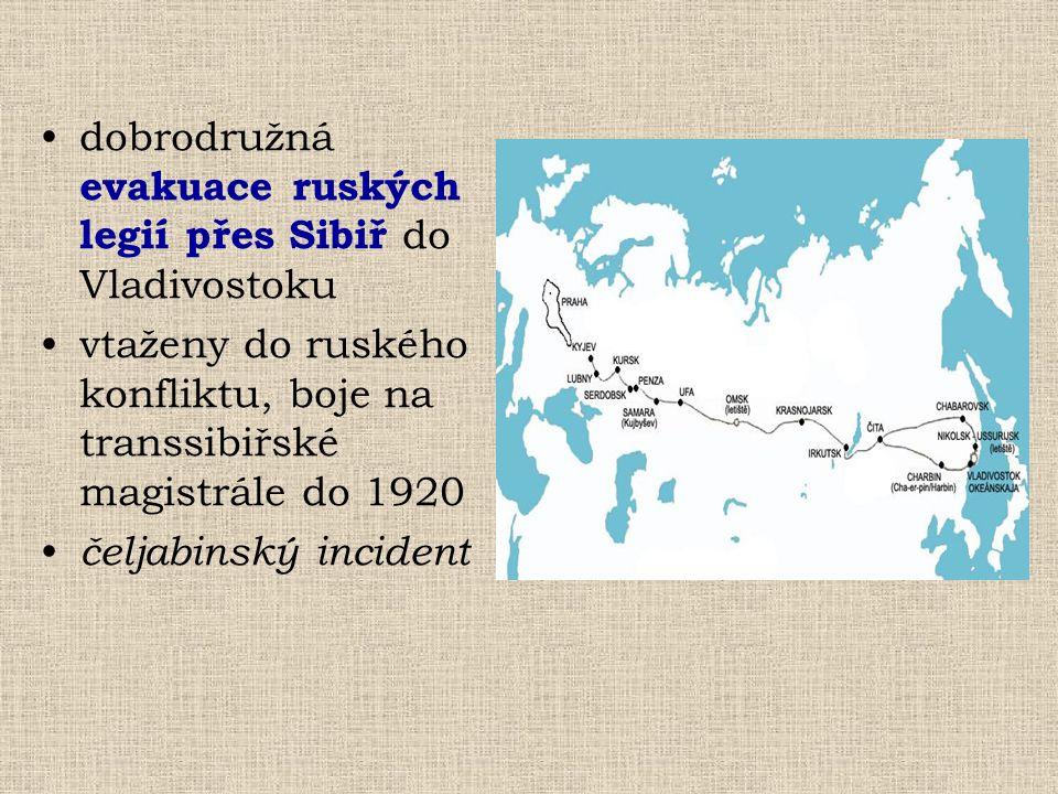 dobrodružná evakuace ruských legií přes Sibiř do Vladivostoku