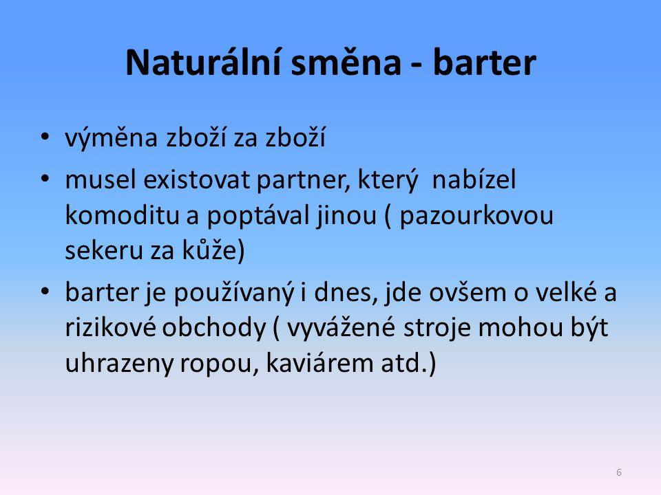 Naturální směna - barter