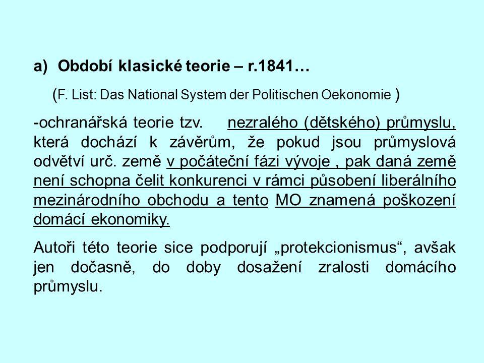 Období klasické teorie – r.1841…